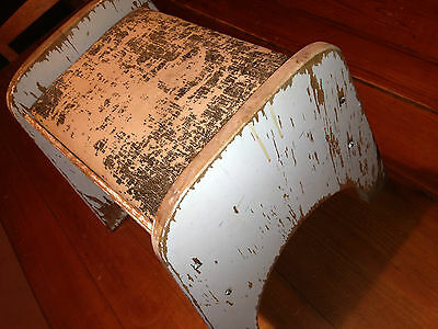 antique (original condition not restored) shoe shine bench stool