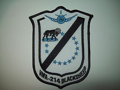 Vma-214 Usmc Fighter Squadron Blacksheep Military Patch - Marine Corps