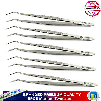 5 X Meriam Cotton Pliers Surgical Tweezers Dental Examination Dressing Forceps