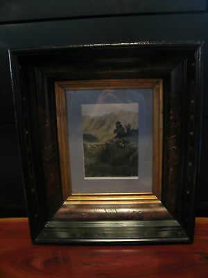 Antique Victorian Aesthetic Movement Deep Frame w/ N C Wyeth Print