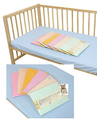 NEW 2x Cot Bed Cotbed Fitted Sheets 100% Cotton 120x60 -nursery baby cot set