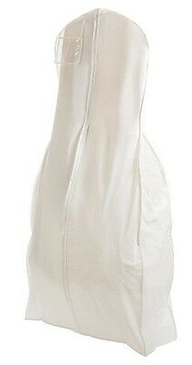 X Large Breathable White Wedding Gown Garment Bag Storage, Huge Paneled Bottom