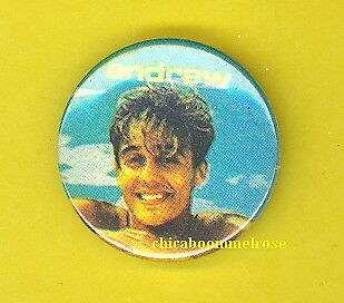 Wham 1985 uk pinback button badge ANDREW  ALONE ww SS