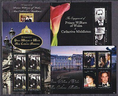 Guyana 2011 Verlobung Engagement William & Kate 2 Blocks und 2 Kleinbogen **