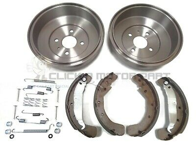 Vauxhall Astra G Mk4 Rear 2 Brake Drums And Shoes Set & Fitting Kit Springs Clip
