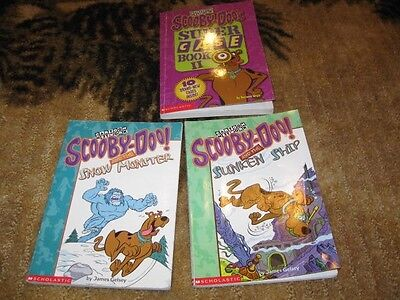 lot 3 Scooby Doo Chapter Books snow monster sunken ship super case book II
