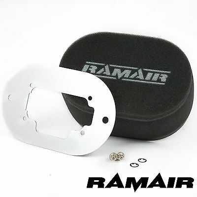 RAMAIR Performance Carb Air Filters Baseplate Weber 3B DGAS/DGMS 40mm Bolt On