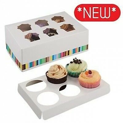White Cupcake Boxes **New Design**  Choose Size and Quantity