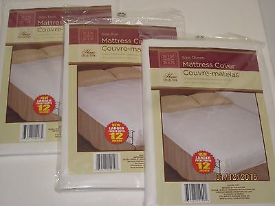 Fitted Plastic Mattress Protector - Lightweight Cover, Bed Wetting Protection