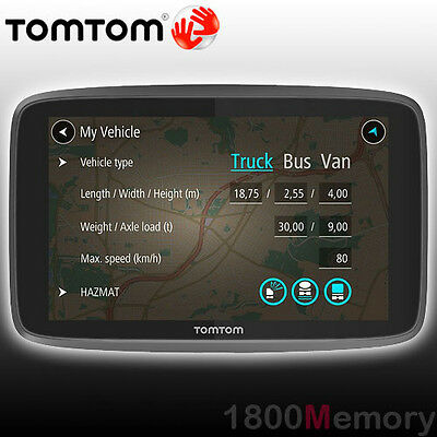"""GENUINE TomTom GO 6200 In Car GPS Navigation 6"""" Interactive Screen Lifetime Maps"""