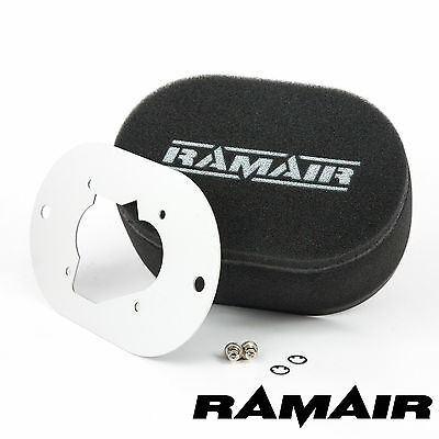RAMAIR Carb Air Filters With Baseplate Weber 32/34 DMTR 65mm Bolt On
