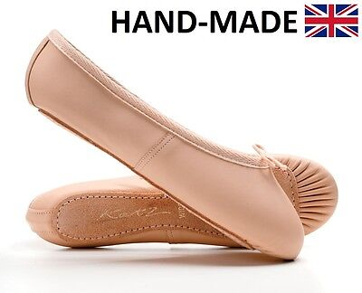 Ladies & Girls Pink Soft Leather Full Sole Dance Ballet Shoes All Sizes By Katz