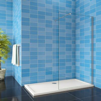 Wet Room Walk In Shower Enclosure Glass Screen Panel 700/760/800/900/1000/1200mm