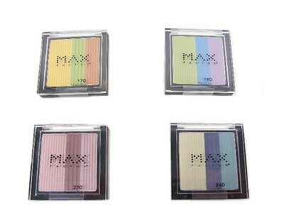 ( Lot of 4 ) Max Factor Eyeshadow,  3-Color Shadow  --  4 Pieces x 3.5 g