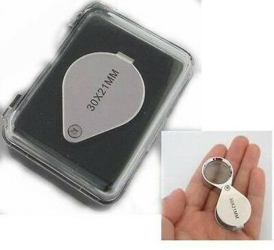 30x 21mm Jewelers Eye Loupe Magnifier Magnifying glass