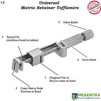 Tofflemire Retainer Universal Matrix Dental Restorative Band & Retainers S Steel