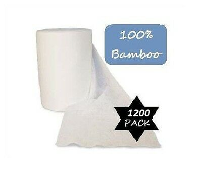 1200 Bamboo Flushable Nappy Liners - Baby Wipes - Organic Biodegradable Insert