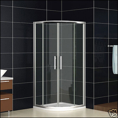 900x900mm Quadrant Shower Enclosure + New Tray Sliding Door Corner Entry Cubicle