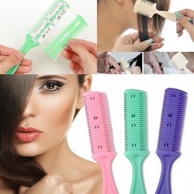 2x Hair Cutter Thinning Shaper Comb Two Razor Blades Trimmer Barber Remover Tool