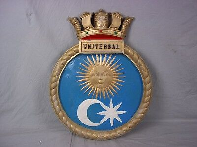 "HMS Universal Ships Badge U Class Submarine 18""x14"" One Off Casting"