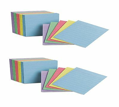 "Oxford Mini Index Cards Ruled 3 x 2-1/2"" Rainbow Colors 200 Cards - (Pack of 2)"