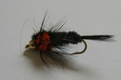24 Montana Mix Long shank BH & STD fly fishing flies by Dragonflies POST FREE