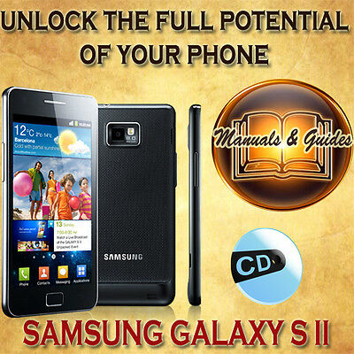 Samsung Galaxy S Ii(S2) I9100 User Guide Manual/ Video Tutorials/softwares On Cd