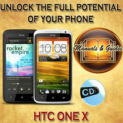 Htc One X Phone User Guide Manual/ Video Tutorials/ Softwares & Extras On Cd