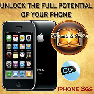 Apple Iphone 3Gs Phone User Guide Manual/tips Video Tutorials/software On Cd
