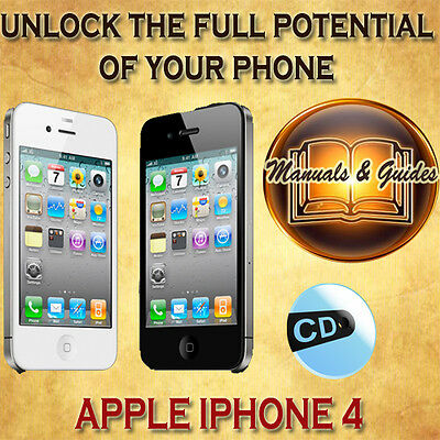Apple Iphone 4 User Guide Manual/tips Video Tutorials/software & Extras On Cd