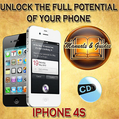 Apple Iphone 4S User Guide Manual/tips Video Tutorials/software & Extras On Cd