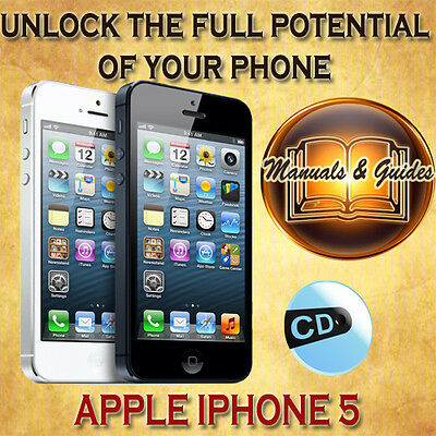 APPLE IPHONE 5 USER GUIDE MANUAL(iOS 6) VIDEO TUTORIALS/SOFTWARE & EXTRAS ON CD