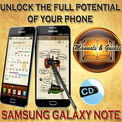 Samsung Galaxy Note N7000 User Guide Manual/ Video Tutorials & Softwares On Cd