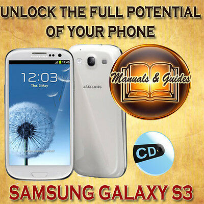 SAMSUNG GALAXY S3 GT l9300 USER  GUIDE MANUAL/VIDEO TUTORIALS & SOFTWARES ON CD