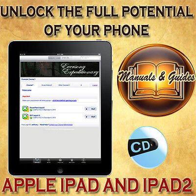 Apple  Ipad, Ipad 2 & Ipad 3 User Guide Manual/video Tutorials & Softwares On Cd