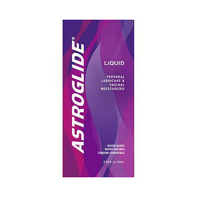 Astroglide Liquid Water Based Personal Lubricant Sample Packet - Choose Quantity