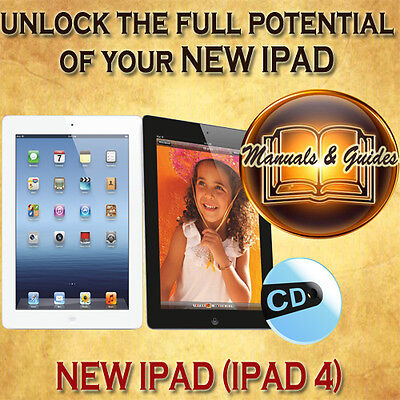 APPLE NEW IPAD 4 WITH RETINA DISPLAY iOS6 USER GUIDE MANUAL/VIDEO TUTORIAL ON CD