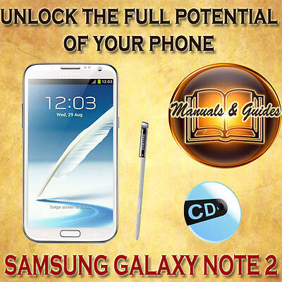 Samung Galaxy Note 2 (Ii) N7100 User Guide Manual/ Video Tutorials & Extra On Cd