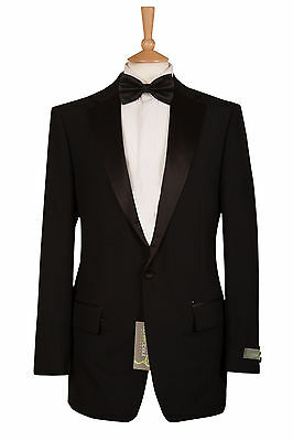 Mens Dinner Evening Suit Hire Black Tuxedo Prom Dj Jacket And Trouser £29.99