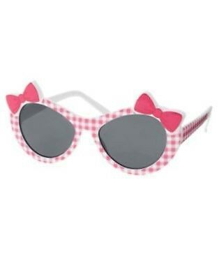 Gymboree Fairy Garden Plaid Pink Bow Sunglasses 0 2 3 4 5 6 Nwt