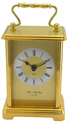 Traditional Gold Colour Two Tone Gilt Quartz Carriage Clock  William Widdop