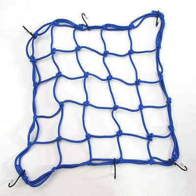 Motorcycle Motorbike Strong Elasticated Cargo Luggage Net Carrier - Blue