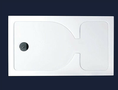 40mm slimline rectangle walk in shower enclosure stone tray WF1