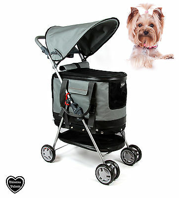 Valentina Valentti Pet Stroller, Pushchair For Pets In Grey Colour