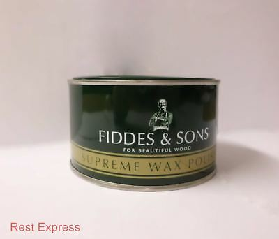 Fiddes Supreme Paste Wax Furniture Polish - 400g Tin - *ALL COLOURS AVAILABLE *