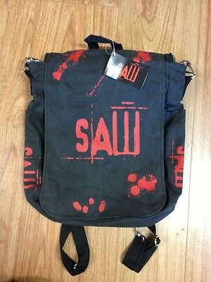 Official SAW shoulder bag/rucksack brand new by Nemesis Now Jigsaw + FREE WALLET