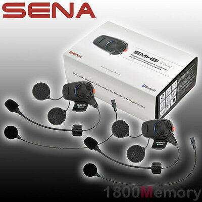 Sena SMH5 Dual Full & Open Face Helmet Motorcycle Bluetooth Headset Intercom Kit