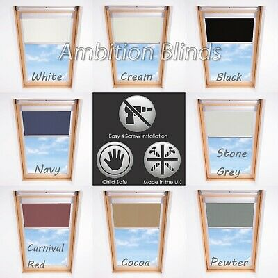 Roller Blinds Blackout For All Keylite Roof Windows Easy Fit