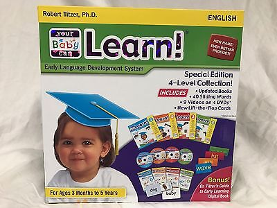 Your My Baby Can Learn UPDATED from Read Volume 1-4 cards BRAND NEW