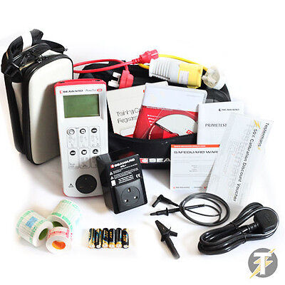 Seaward Primetest 250 PAT Tester KIT64 with RCD Tester, Labels and Training Card